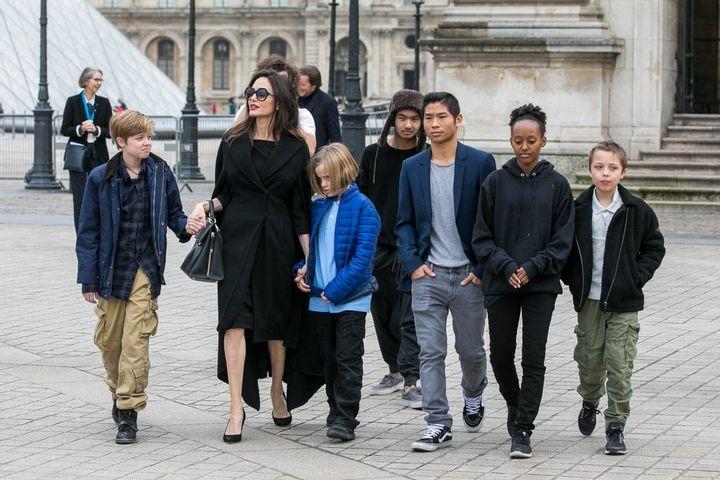 Six children in the Jolie-Pitt family