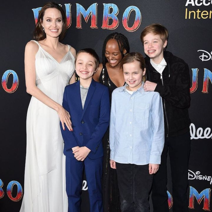 Angelina Jolie was a single mother